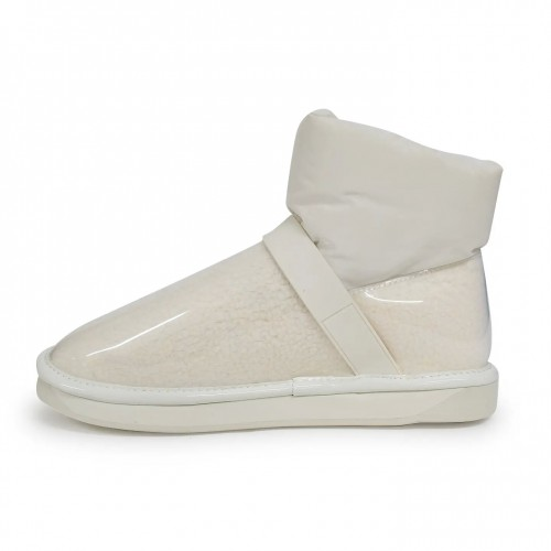 CLEAR QUILTY BOOTS WHITE