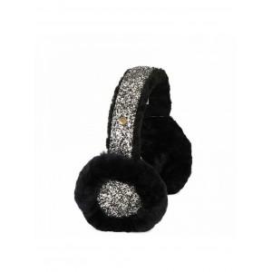 Earmuff Sequins Black