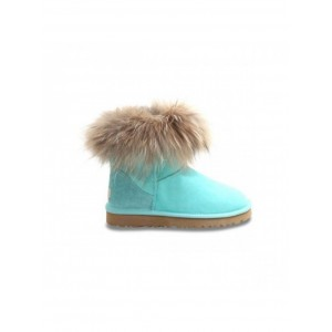 Mini Fox Fur Aqua