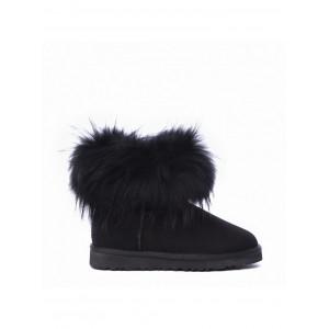 Mini Fox Fur Total Black