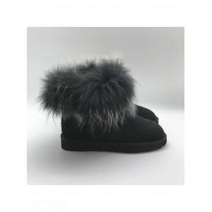 Mini Fox Fur Ultra Black