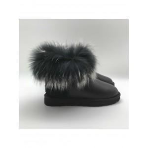 Mini Fox Fur Ultra Metallic Black