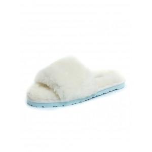 UGG Fluff Slide Slippers White