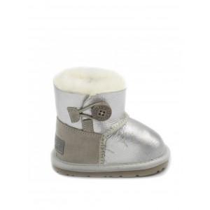 UGG Kids Mini Bailey Button Silver