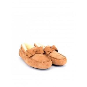 UGG Moccasins Dakota Leather Bow Chestnut