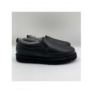 UGG Stich Slip On Men Black Leather