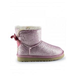 UGG Women's Mini Bailey Bow Sparkle Fashion Pink